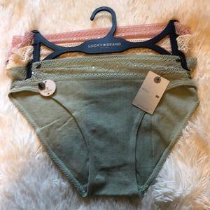 3 Lucky Brand Bikini Panties S